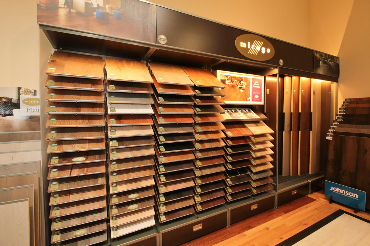 We carry Hundreds of flooring samples including USA and Canada brands.